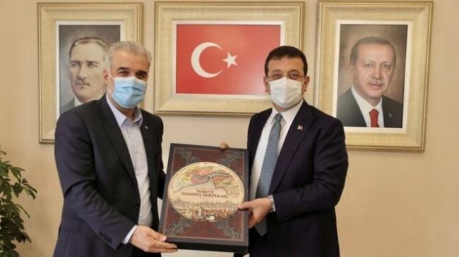 Ekrem İmamoğlu'ndan yeni AKP il başkanına ziyaret